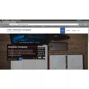 Criação de sites para portifolio - hometec company