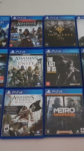 Games ps4 r$25,00 cada