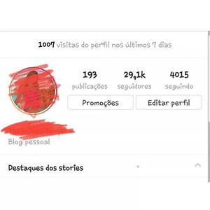 Instagram 29 mil seguidores br -reais -blog.. otimo engajam