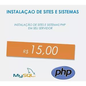 Instalação script site html loja php hospedag