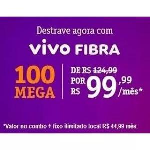 Internet fibra óptica 100 mega vivo
