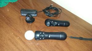 Kit move ps3 com 2 controles movie play 3 e jogos