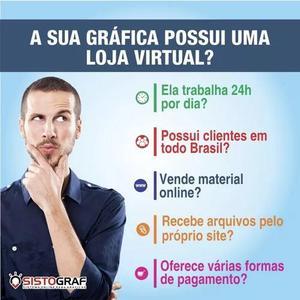 Loja virtual para gráfica | gráfica online | loja virtual