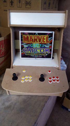 Máquina arcade fliperama multijogos bartop