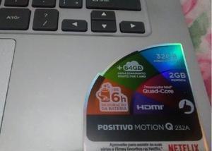 Notebook positivo motion q232a - novo na embalagem !!!
