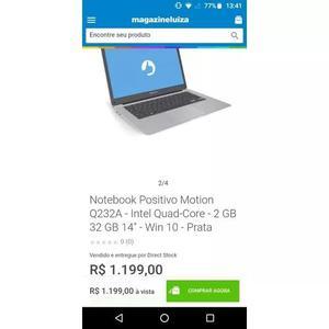 Notebook zero com nota fiscal 800 reais