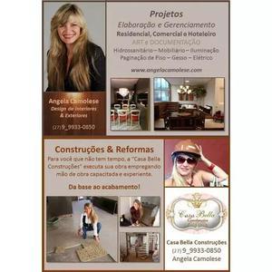 Projetos e execução de obras - residenciais e comerciais