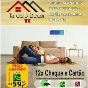 Promoção piso laminado 59,90 m2 instalado