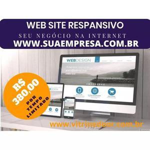Web sites com domínio e hospedado mais 500 cartões de