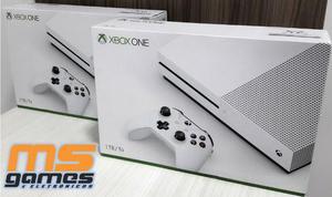 Xbox one s branco 4k hdr 1tb de hd lacrado com garantia a