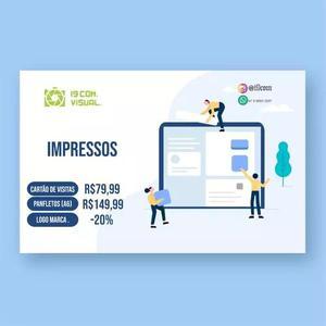 I9com promoção gráfica: cartões visita