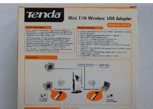 Adaptador wifi tenda wireless 150mbps