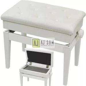 Banqueta branca,assento,banco de piano,teclado-importado!