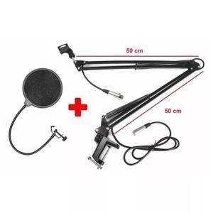 Braço flexível,haste p/microfone,rádio 100 cm+cabo