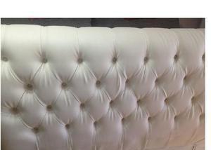 Cabeceira estofada para cama box casal branca