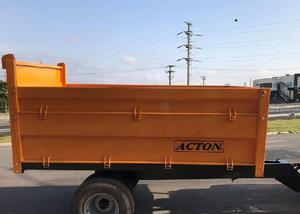 Carreta metálica basculante hidraulica,marca:acton,(nova)