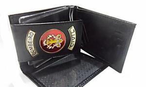Carteira de couro para bombeiro civil