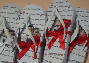 Chinelos personalizados para casamento em sorocaba