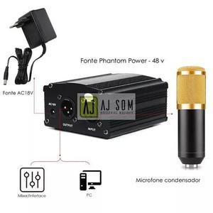 Fonte fantasma,phantom power 48 v para mic condensador