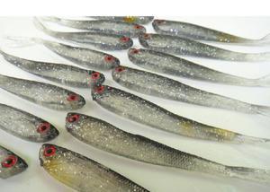 Isca artificial de silicone sardinha (9 cm) & (4 g)