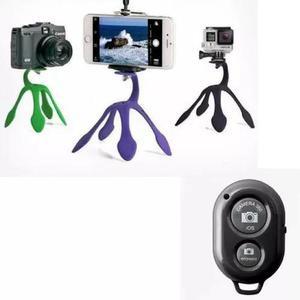 Kit tripe flexivel tipo gekko pod gekkopod selfie + controle