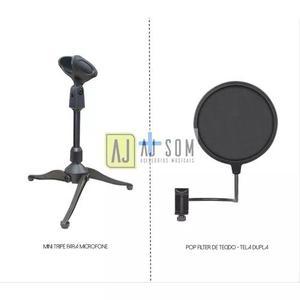 Kit-tripé de mesa para microfone+pop filter 6 ''-arcano,akg