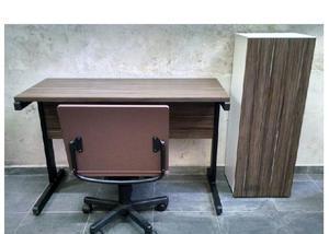 Móveis escritório conjunto, mesa, armário cadeira
