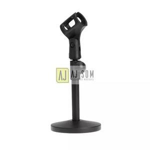 Pedestal mini reto mesa,bumbo p/microfone-base de ferro
