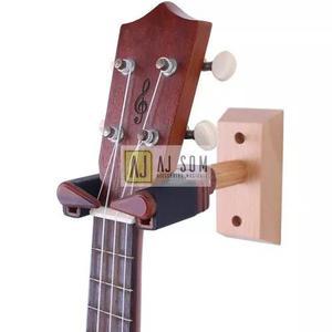 Suporte de parede c/auto trava p/violino,viola,ukulele,banjo