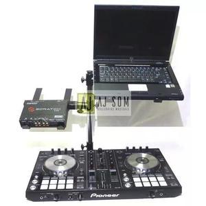Suporte duplo de mesa p/ notebook,controladora,mixer,cdj !