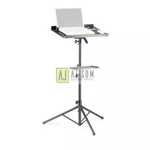 Suporte,estante mesa p/notebook,projetor,akai-portátil,aço