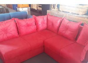 7913c6e0cb Sofa tecido vermelho   OFERTAS Maio