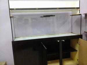 Aquario 1.50x50x60 450 litros mais móvel de 1.50x50x80