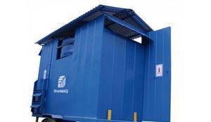 Banheiro agrícola móvel sem caixa de dejetos