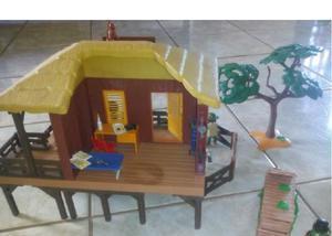 Brinquedo playmobil - casa de safari