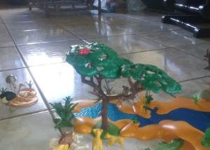 Brinquedo playmobil - safari - cenário africano com animais