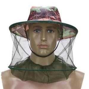 Chapéu pesca tela rede protege mosquitos pernilongo