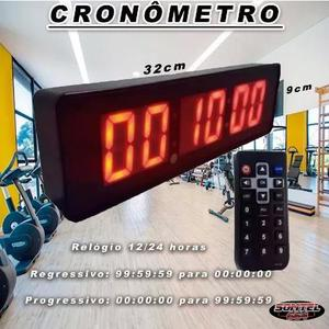 Cronômetro relogio parede digital 32cm x 9cm - acad