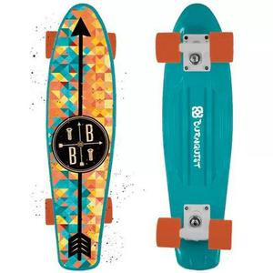 Skate mini cruiser bob burnquist es093 azul - multilaser