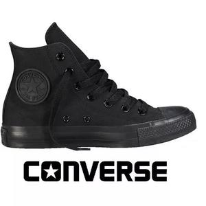 11a62c251 Tênis converse all-star botinha rock monochrome preto