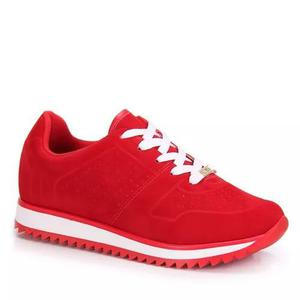 Tênis jogging vizzano nobuck - vermelho