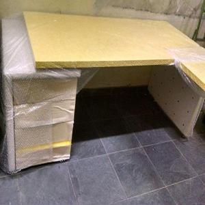 Mesa para escritório l presidente amarelo ferrari +