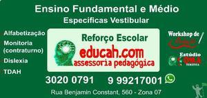 Reforço escolar aulas particulares
