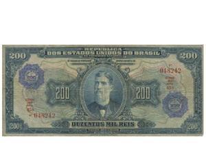 Compras e vendas de notas de réis imperiais até r$300 cada