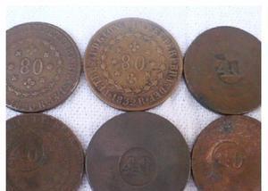 Compro moedas de cobre antes de 1870 pago r$200 o quilo