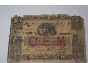 Compro notas de réis do império pago até r$300 cada na