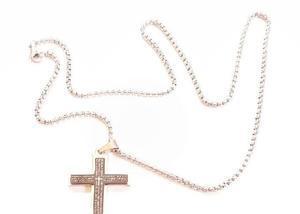 Colar & crucifixo 0020 em aço inoxidável 316l