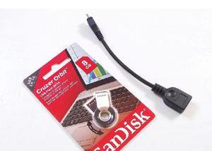 Pen drive sandisk 8gb + cabo otg usb
