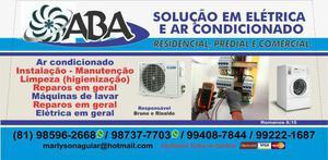 Ar condicionado, máquina de lavar e elétrica em geral
