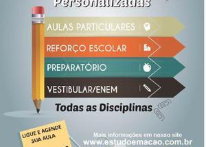 Aulas particulares, todas as disciplinas (fundamentalmédio)
